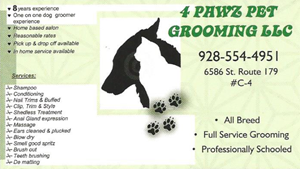 4 Pawz Pet Grooming LLC - 928-554-4951
