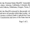 Western States Sheriffs View Gun Control Debate Off Target