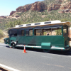 Sedona Trolley Tour Bus Catches Fire