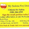 Sedona Fire Board Recall