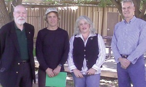 The four panelists for the recent Keep Sedona Beautiful presentation (from left to right); Tom Pitts, chairman, Verde Valley Wine Consortium; Eric Glomski, owner and winemaker, Page Springs Cellars; Paula Woolsey, national sales manager, Arizona Stronghold Wines; Tom Schumacher, executive dean, Yavapai College.