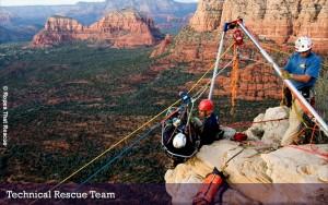 Sedona Rope Rescue team in action