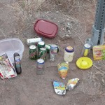 Local highway litter is sorted for recycling by American Heritage Academy students