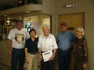 American veteran John Cornelius was presented with a Yavapai County Unsung Hero Award for his fundraising work on behalf of American veterans in 2012