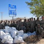 El Paso Texas 1-1 CAV joined the Folksville USA Anti-Litter effort bagging highway trash