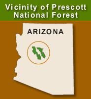 Prescott National Forest location