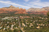 City of Sedona Arizona has a population of approximately 10K of which about 6K are considered year round residents.