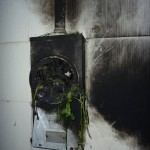 Smart meter fire while in service