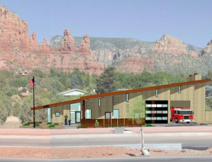 Rendering of proposed Sedona Fire Station 6