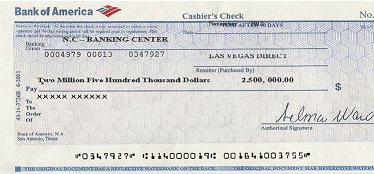 bank of america cancel check