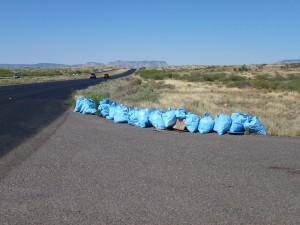 Thanks Knights of Columbus for this Arizona litter clean up effort and No Thanks to those of you who littered.