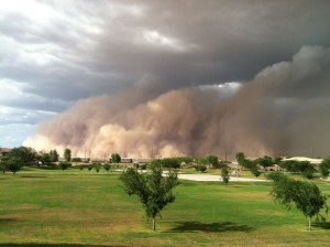 Arizona dust storm approaches Phoenix