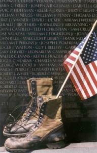Washington DC Vietnam Memorial black granite walls