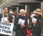 Clergy marching in opposition to death penalties