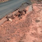 Sedona roads are designed for slow scenic views and sharing the road drives and maintenance caused by rushing waters, shifting ground, and mountainous terrain contribute to transportation issues.