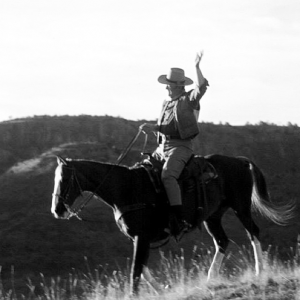 American icon John Wayne rides again during the Sedona Heritage Museum Gala Dinner and Fundraiser, March 15, 2014