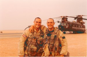 Pat and brother Kevin Tillman served together in Afghanistan