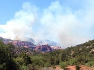 Exclusive SedonaEye.com photos of July 20 2014 Sedona Fay Canyon wildfire