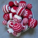 christmas ornaments knitted