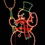 sedona city snowman christmas tinsel town