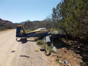 Plane crashes with two aboard in Sedona, Arizona