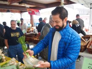 Amara SaltRock Restaurant Chef Massimo visits local Sedona market Photo credit 2015 Breanne Demore