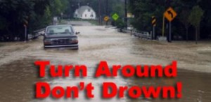 weather flood turn around don't drown