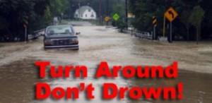 weather flood turn around don't drown