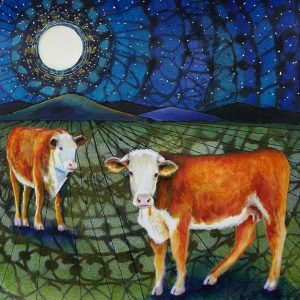 Moon Over Moos by Cathy Gazda