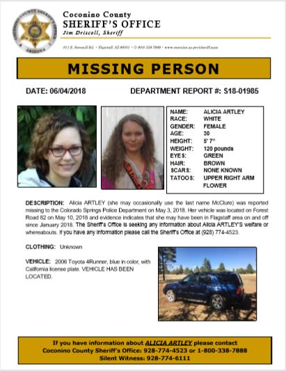 sedona eye missing colorado woman s car found in arizona forest